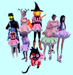 Mage Halloween Fun (SimfiaDringus) Tags: secondlife halloween lolita friends idiots mage fun