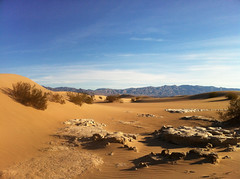 Dunes and Playa (blue corgi) Tags: dunes playa deathvalleynationalpark mesquiteflats california desert iphone4