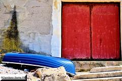 Old fisherman´s storage area (serra.damiano) Tags: sicily tradition boat sea beach fishing italy outdoor colours sun wood season summer bright sand warm fisherman storage old