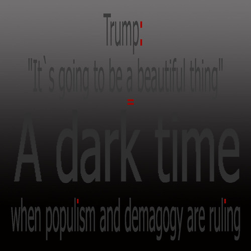 Election: Victory of populism and demagogy - Whenever I hear Trump saying beautiful, I`m going  to feel sick 9. 11. 2016 US Wahl Trump
