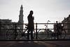 Prinsengracht, Amsterdam (chipje) Tags: silhouette man bridge canal amsterdam prinsengracht