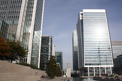 Buildings of Canary Wharf (lazy south's travels) Tags: london england britain uk finance financial urban capital city