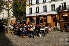 Over The Hill (Saumil U. Shah) Tags: paris france therealsaumil saumilshah saumil shah spectrallines spectral lines streetphotography street photography montmartre patio restaurant cafe bistro outdoors