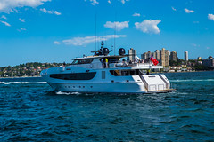 BS4R7669 (Damir Govorcin Photography) Tags: sahana yacht water sydney harbour 1dx canon photography 2470mm sky clouds colours waves natural light