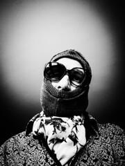 after the storm...... (von8itchfisk) Tags: killer selfie worlddomination worlddominationselfie dandy sunglasses mo fo balaclava battisford vonbitchfisk hitman blackandwhite monochrome silver portrait