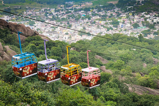 Cable car at Bamleshwari Temple, Dongargarh. (EXPLORED ON 19.11.2016)