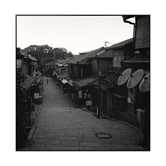 morning  kyoto, japan  2015 (lem's) Tags: morning pedestrian man alone street steps matin homme suel passant rue marches kyoto japon japan rolleiflex planar