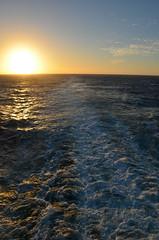 Sunset At Sea (Vintage Alexandra) Tags: sunset queen mary 2 qm2 ship ocean liner maritime transatlantic crossing cunard travel cruise atlantic