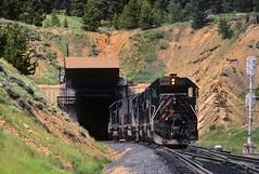 Tennessee Pass1985 (Moffat Road) Tags: riogrande drgw denverandriograndewestern tennesseepass tunnel emd sd40t2 tunnelmotor 5393 helper train locomotive railroad colorado co