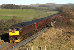 47854 passes Otterburn (Ross Taylor pictures 2015) Tags: 47854 5z53 0520 great yarmouth skipton wcrc class47 westcoastrailwaycompany 2016