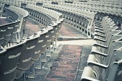 Untitled (mnmlong) Tags: bakerpark seats stadium rows bricks abandoned empty solitary noone frederick maryland