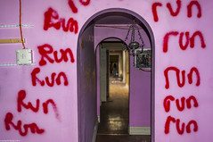 The Little Girls Room (TdotShutterSpy) Tags: little girls room shutter spy shutterspy abandoned mansion urbex urban explore ontario canada drug dealers run pink graffiti vandalism flash composite photoshop