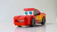 Lightning McQueen as a Speed Champions car (with instructions) (hachiroku24) Tags: lego cars moc lightning mcqueen toy creation pixar movie vehicle