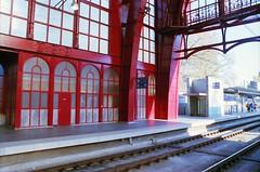 Station Centraal, Antwerpen, ANT (Jickatrap) Tags: pentaxmz50 pentax 35mm  analog film filmphotography  fujisuperia superia400     newtopographics urbanlandscape photographersontumblr  clementvanbogaert  antwerpen arnhemcentraal rojo