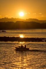 Heading home (lizcaldwell72) Tags: water fishingboat sky hawkesbay newzealand sunset napier light