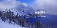 Winter in Crater Lake NP, OR (Sveta Imnadze) Tags: nature craterlake craterlakenp oregonstate winter snow clouds