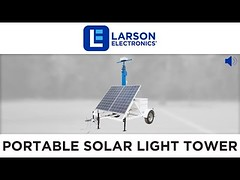 Portable Solar Light Tower - 30' Mast - 7' Trailer - 12V 200aH Battery Bank - (2) Junction Boxes (finiarisab) Tags: 200ah bank battery boxes junction light mast portable solar tower trailer