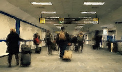Passengers.... (tomk630) Tags: art dulles airport 0615 passengers luggage light