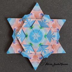 Iimori Star E (Day 46) (Yureiko) Tags: yureiko tessellation papierfalten papier origami paperfolding paper