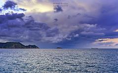 Birth of a storm cloud (Metatla Photography) Tags: storm cloud cloudscapes algeria afriquedunord beach bleu color ciel cotes dcouverte nikon nature metatlanoureddinephotography metatlanoureddine nikond4 extrieur seascape sea skikda lepharedesrigina ilesrigina