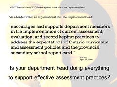 Educational Postcard: Department Heads are to support effective assessment practices (Ken Whytock) Tags: encourage suport department members implementation current assessment evaluation recordkeeping practices ontario curriculum policies provincial secondary schools departmentheads