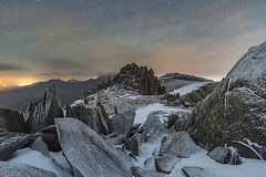 'An Icy Palace' - Glyder Fach, Snowdonia (Kristofer Williams) Tags: night sky stars nightscape landscape mountain peak summit weathered frost ice snow glyderfach glyderau glyders snowdonia wales astro astrophotography rock outdoor hillwalking hiking castellygwynt castleofthewinds