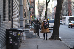 A woman ahead of me on the 49th Street sidewalk between 9th and 10th Avenue. (kevinrubin) Tags: newyork unitedstates us