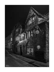 The Bridge Tea Rooms (JRTurnerPhotography) Tags: jaketurner jrturnerphotography canon canon5dmarkiii canon1635mmf4l wideanglelens wideangle 1635mm lserieslens picture print image photo photography photograph photographer bradfordonavon avon wiltshire southwest westcountry england uk gb unitedkingdom greatbritain europe britain british dark darkness night town city trees contrast blackandwhite bw mono monochrome longexposure tourist tourism saxon buildings architecture urban thebridgetearooms tearooms bridge bridgestreet