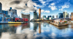 Melbourne on the Yarra by MarkMcMahon on 500px (flavoredtape) Tags: sky city color water river travel clouds urban architecture cityscape melbourne yarra australia colo
