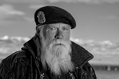Been there, done that (Mitch Tillison Photography) Tags: portrait newmexico male beard photography photo albuquerque harley motorcycle biker tough rugged grizzled 2014 wizened charismatic rideforkids mesadelsol pentaxfa77mmlimited pediatricbraintumorfoundation mitchtillison pentaxk3 godoxxenergizer400
