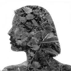 2014 Krizanek Photography (krizanekphotography) Tags: blackandwhite art monochrome silhouette project model doubleexposure redhead multipleexposure anastassia anastassiabear krizanekphotography