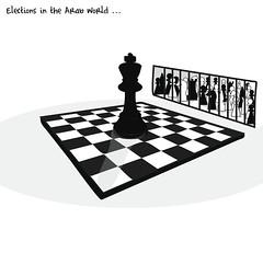 elections in the Arab world (khalid Albaih) Tags: our girls pope back election sudan cartoon egypt chess arab jail syria haram bring khalid sisi cartoonist 2014 basher boko pelastine albaih khartoon albasher alsadig almahadi cebsorship