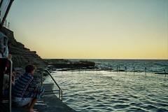 Bogey Hole (mangosteendream) Tags: ocean film beach 35mm newcastle horizon roadtrip nsw contaxt2 bogeyhole oceanbaths mangosteendream