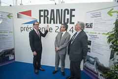 Alexander Dobrindt, José Viegas and Frédéric Cuvillier on the French Presidency Stand