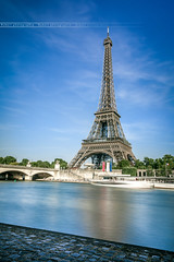 Eiffel Tower (Hubert Photographie) Tags: world travel paris france building tower monument architecture canon europe long exposure tour mark eiffel ii 5d romantique