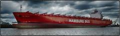 Lumix FZ1000  Hamburg Sd Rio Bravo (/Reality Scanner/) Tags: water river germany giant deutschland lumix wasser ship waterfront harbour hamburg 11 panasonic hafen fluss hdr elbe zoll gigant superzoom cmos hamburgsued bridgecamera fz1000