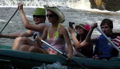 18.7.14 Vyssi Brod Weir 056 (donald judge) Tags: river boats republic czech canoes vltava brod weir rafts vyssi