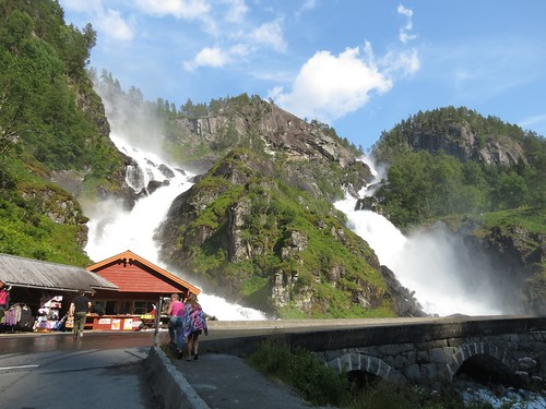 Låtefossen waterfall, Norway