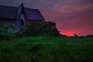 Sunset at Abandoned Lavender House