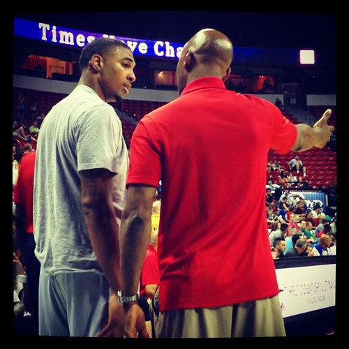 Sam trying to show Glen the way. #Wizards #NBAsummerleague