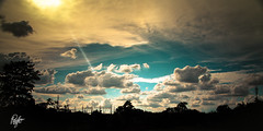 Unreal Clouds (Pulin Pegu) Tags: sky sun silhouette clouds dream flare assam tiffen polariser