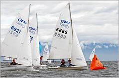 mark rounding (tesseract33) Tags: world ocean light sea summer colour art boats nikon sailing games 420 nikondigital dinghysailing nikond300 tesseract33 420sailing peterlangphotography racingbc gamesbc