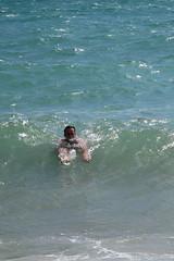 Nice day for a swim (shaunsadie007) Tags: summer costa hot beach canon de sussex coast la canal day south july playa dia east julio nadador verano swimmer sur bao mancha g12 2014 inglesa caluroso ferring