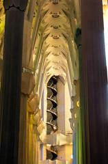IMGP1390 Spiral Staircase,  La Sagrada Familia. (aine60) Tags: barcelona españa church architecture spain pentax iglesia gaudi sagradafamilia k5 2014 pentaxda1855mmwr