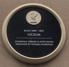 "City of Liverpool Heritage Plaque Lyceum • <a style=""font-size:0.8em;"" href=""http://www.flickr.com/photos/9840291@N03/14668232700/"" target=""_blank"">View on Flickr</a>"