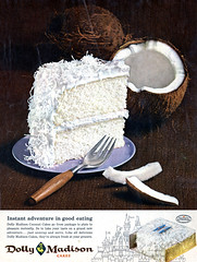Vacationland Summer 1962 23 - Dolly Madison Coconut Cake (Tom Simpson) Tags: cake advertising coconut ad advertisement 1962 vacationland vintageadvertising coconutcake vintagead vintageadvertisement dollymadison