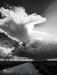 Feeling Small (Chains of Pace) Tags: blackandwhite storm oklahoma weather clouds unitedstates perspective western prairie panhandle guymon