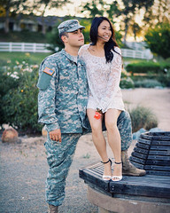 Adam and Denice Lee (hellodayne) Tags: portrait sun love portraits army engagement kiss couple marriage armywife vsco