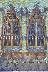 Casa Vicens - Grilles (neoBIT) Tags: barcelona building architecture facade ceramic design spain mosaic decorative wroughtiron stainedglass catalonia artnouveau tiles gaud catalunya neogothic catalua grcia modernisme jugendstil ornamentation mudjar cataluna modernstyle