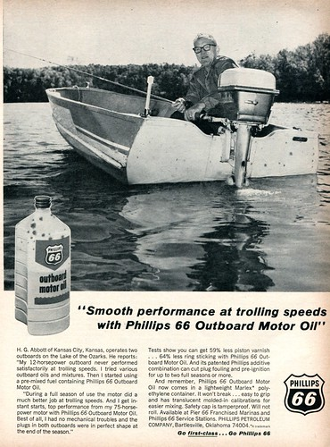 sports october phillips 66 advertisement oil motor outboard 1964 afield